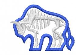 Buffalo Skeleton Grafix embroidery design