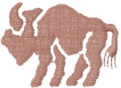 Buffalo Cave Drawing embroidery design