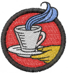 """""""Serving It Up Hot"""" embroidery design"""