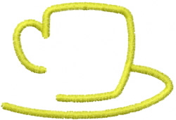 Coffee Cup Outline embroidery design