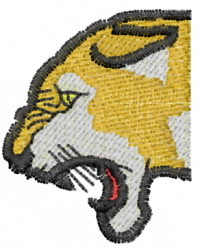 Cougar Head Profile embroidery design