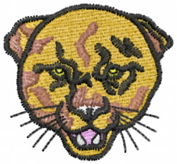 Cougar Head Profile embroidery design
