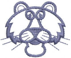 Cougar Shaggy Outline embroidery design