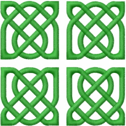 Celtic Knot Square 10 embroidery design