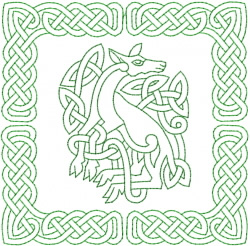 Celtic Knot Square 16 embroidery design