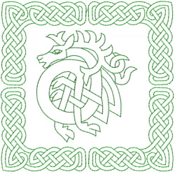 Celtic Knot Square 17 embroidery design