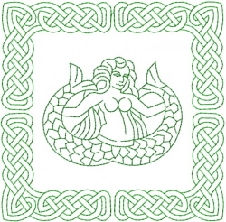 Celtic Knot Square 20 embroidery design