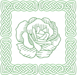 Celtic Knot Square 26 embroidery design