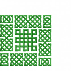 Celtic Knot Square 34 embroidery design