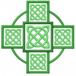 Celtic Knot Square 40 embroidery design
