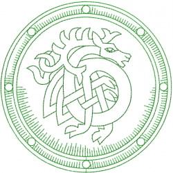 Celtic Horse Shield embroidery design