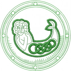 Celtic Mermaid Shield embroidery design