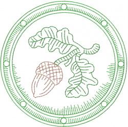 Celtic Acorn Shield embroidery design