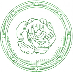 Celtic Rose Shield embroidery design