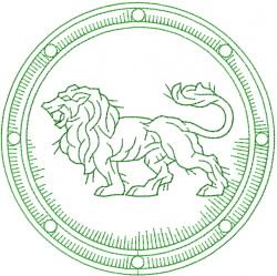 Celtic Lion Shield embroidery design