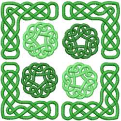 CELTIC SQUARE - ROSE KNOTS embroidery design