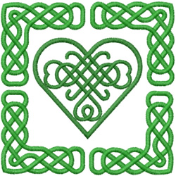 CELTIC HEART SQUARE 790 embroidery design