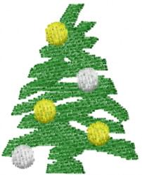 Christmas Tree 4 embroidery design