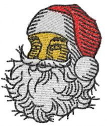 Santa 5 head embroidery design