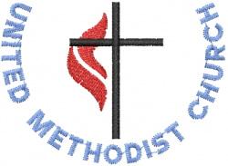 METHODIST CHURCH embroidery design