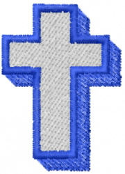 Two Color Cross embroidery design