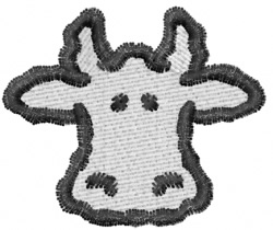 White Cow Head embroidery design