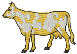 Cow 10 embroidery design