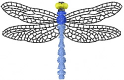Dragonfly 1 embroidery design