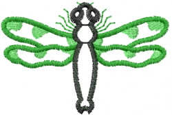 Dragonfly 2 embroidery design