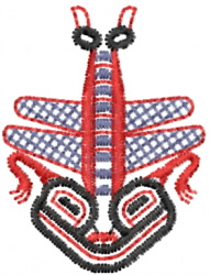 Dragonfly 5 embroidery design