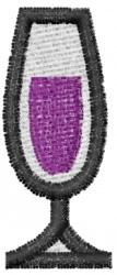 Champagne Flute embroidery design