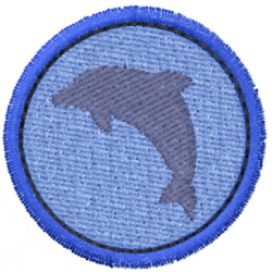 Dolphin In A Circle embroidery design