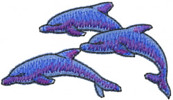 Jumping Dolphins embroidery design