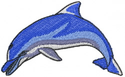 Diving Dolphin embroidery design