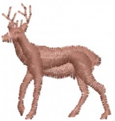 Deer - Mini Silhouette embroidery design