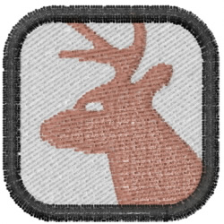 Deer Head Square embroidery design