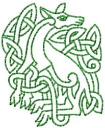 Celtic Deer Outline embroidery design