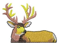 Half Deer embroidery design