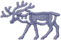 Deer Graphic embroidery design