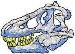 Tyrannosaurus Skull embroidery design