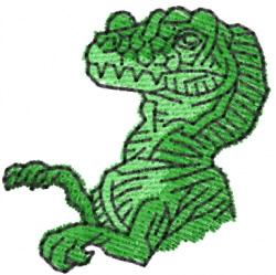 Tyrannosaurus Bust embroidery design