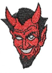 Devil Head 16 embroidery design