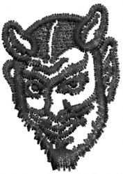 Devil Head 3 embroidery design