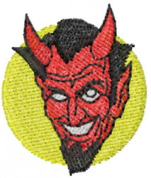 Devil Head 6 embroidery design