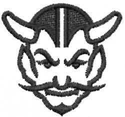 Devil Head 7 embroidery design