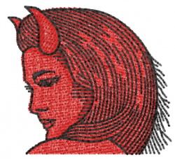 Devil Head 15 embroidery design