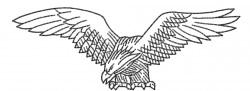 Eagle 10 embroidery design