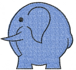 Elephant 1 embroidery design