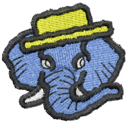 Elephant 10 embroidery design