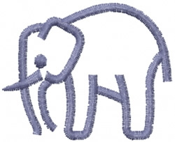Elephant 14 embroidery design